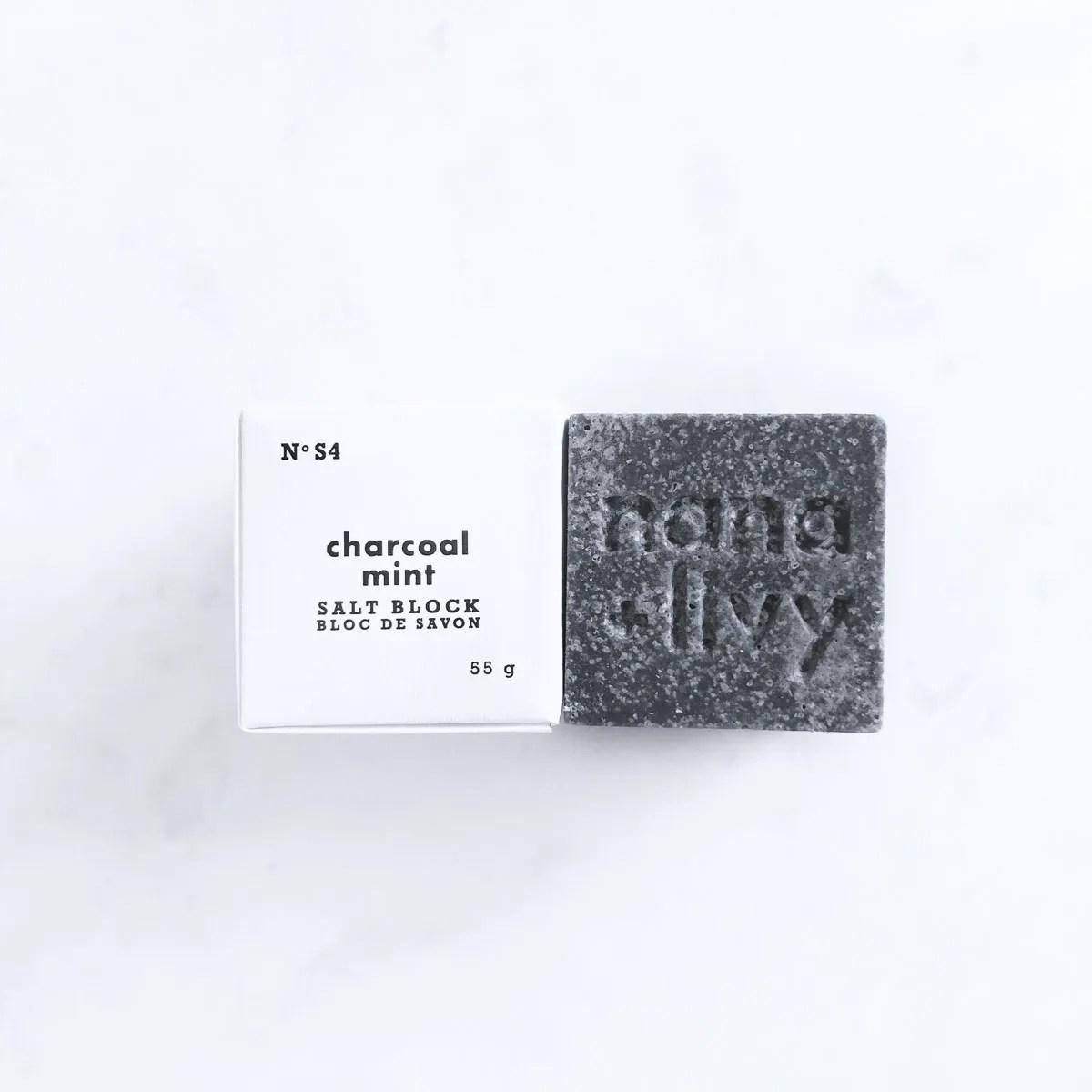 Charcoal Mint Salt Block