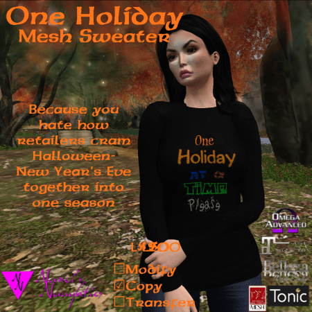 NN One Holiday Mesh Sweater in Black ad