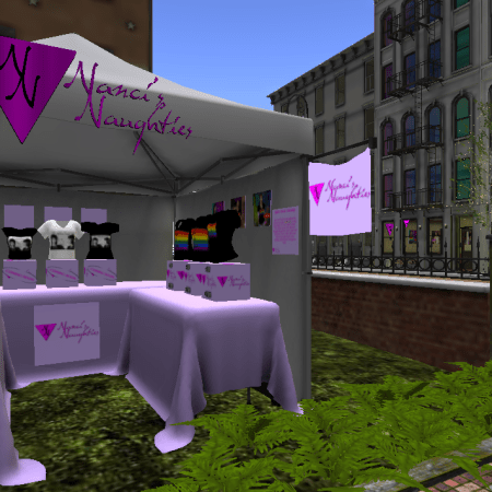 Second Pride booth w/view of SP storefront