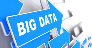 Big Data on Blue Direction Sign.