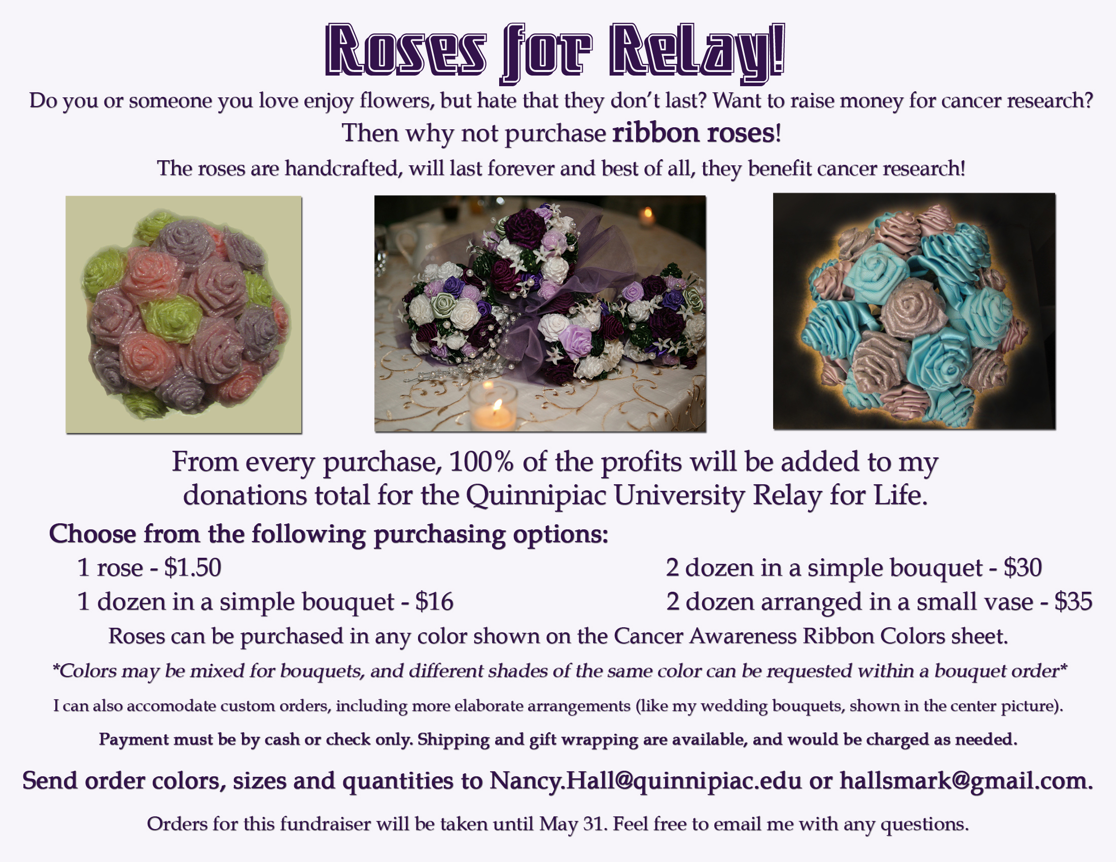 Roses for Relay ad