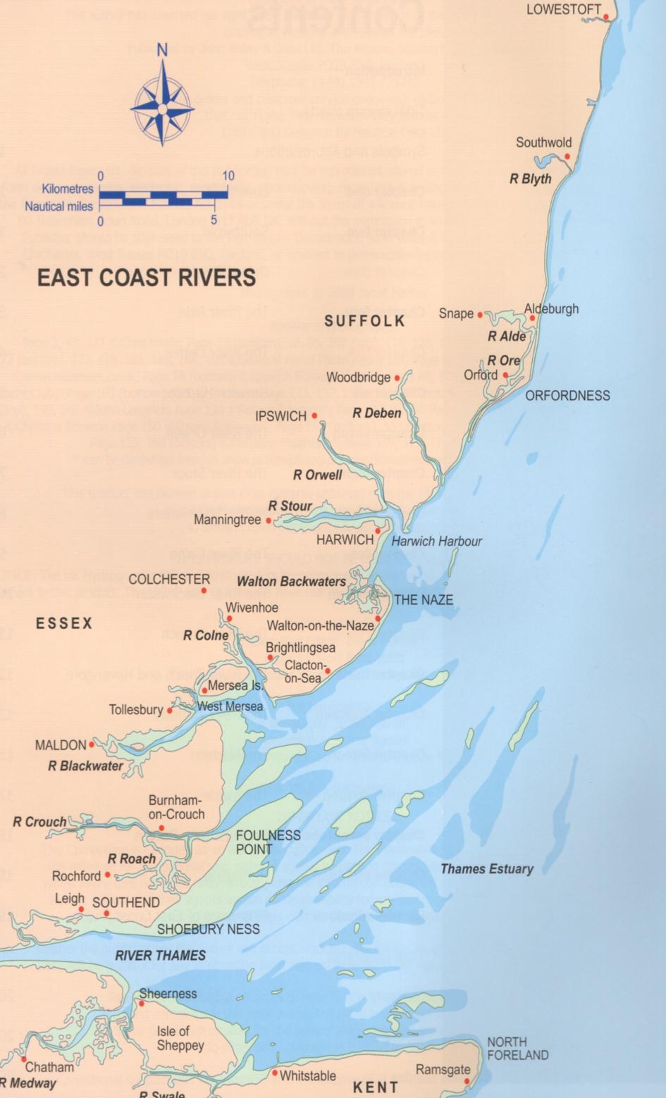 New Year New Cruises Exploring Our East Coast Rivers The - East coast rivers map