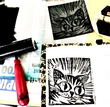 Manga cat Flying Arts zine workshop