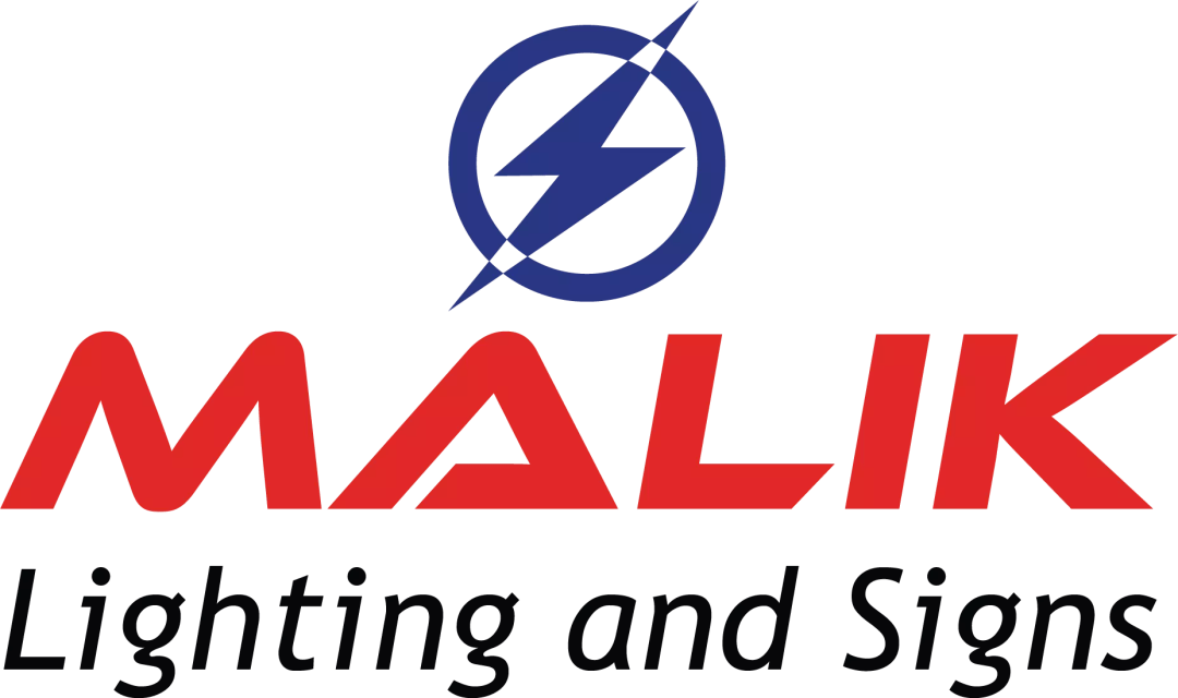 Final Brand Identity logo for Malik Lighting and Signs