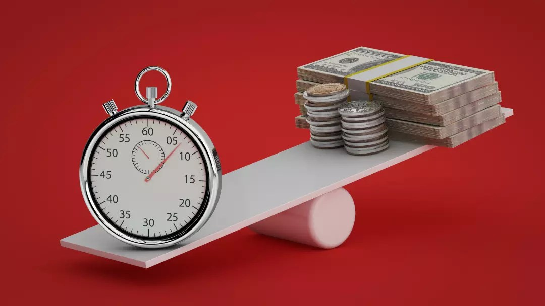 time and money on a balance