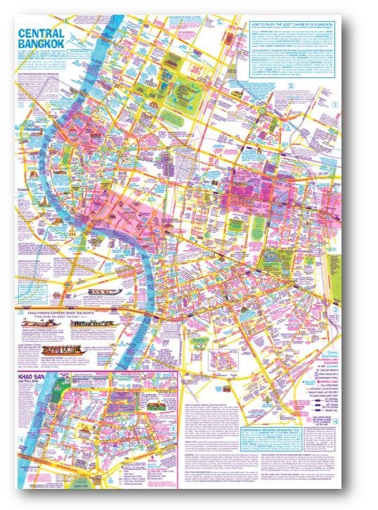 Nancy Chandlers Map Of Bangkok Poster For Framing