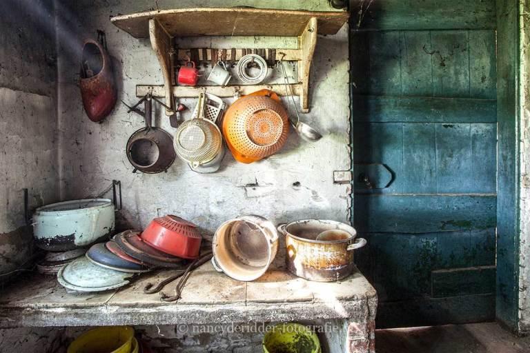 Farm Paternoster, keuken, Urbexlocatie
