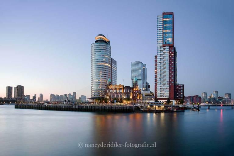 Steden, rotterdam, skyline, kop-van-zuid, hotel-new-york