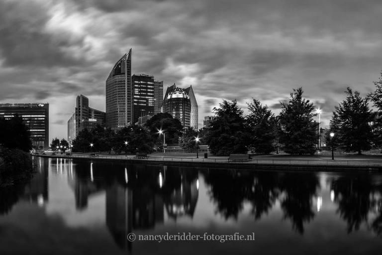 zwart/wit fotografie, skyline-denhaag