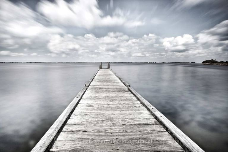 zwart/wit fotografie, zeeland,steiger