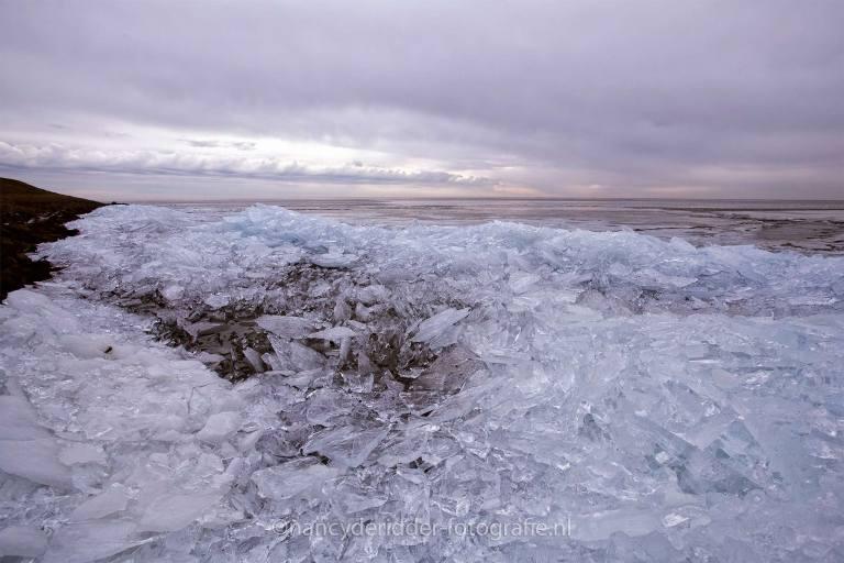 kruiend-ijs, winter, kou, ijsschotsen