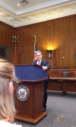 Breakfast with Senator Al Franken.
