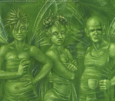 Urtica Dioica, Stinging Nettle Fairies - close-up 2