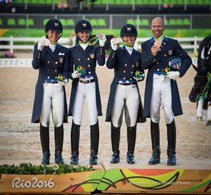 bronze medal dressage team