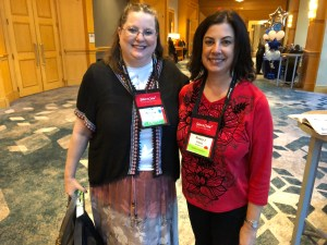 Nancy Cohen and Vicki Mejia-Gewe from Fangirl Nation Magazine