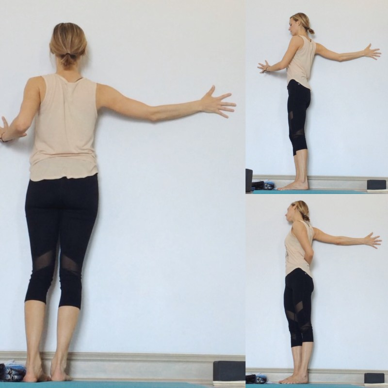 Yin Yoga at the Wall - Extended Arm Stretch