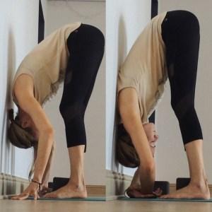 Yin Yoga at the Wall - Forward Fold Back at wall
