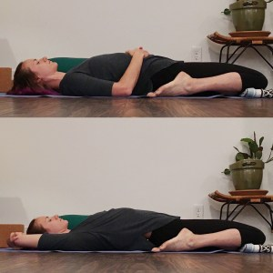 reclined pose without a prop under hips