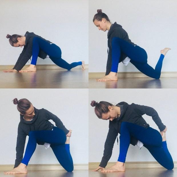 Hip Flexor Stretches - Lizard lunge
