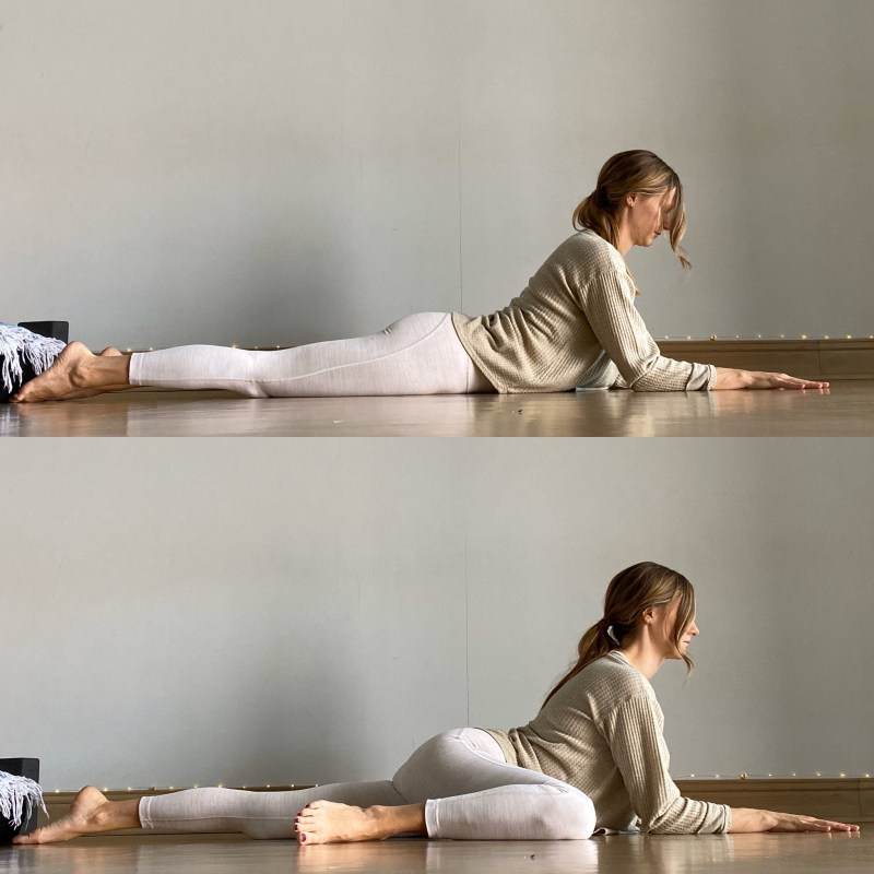 Yin Yoga Sequence - Journey to Frog Pose - Sphinx + Half Frog