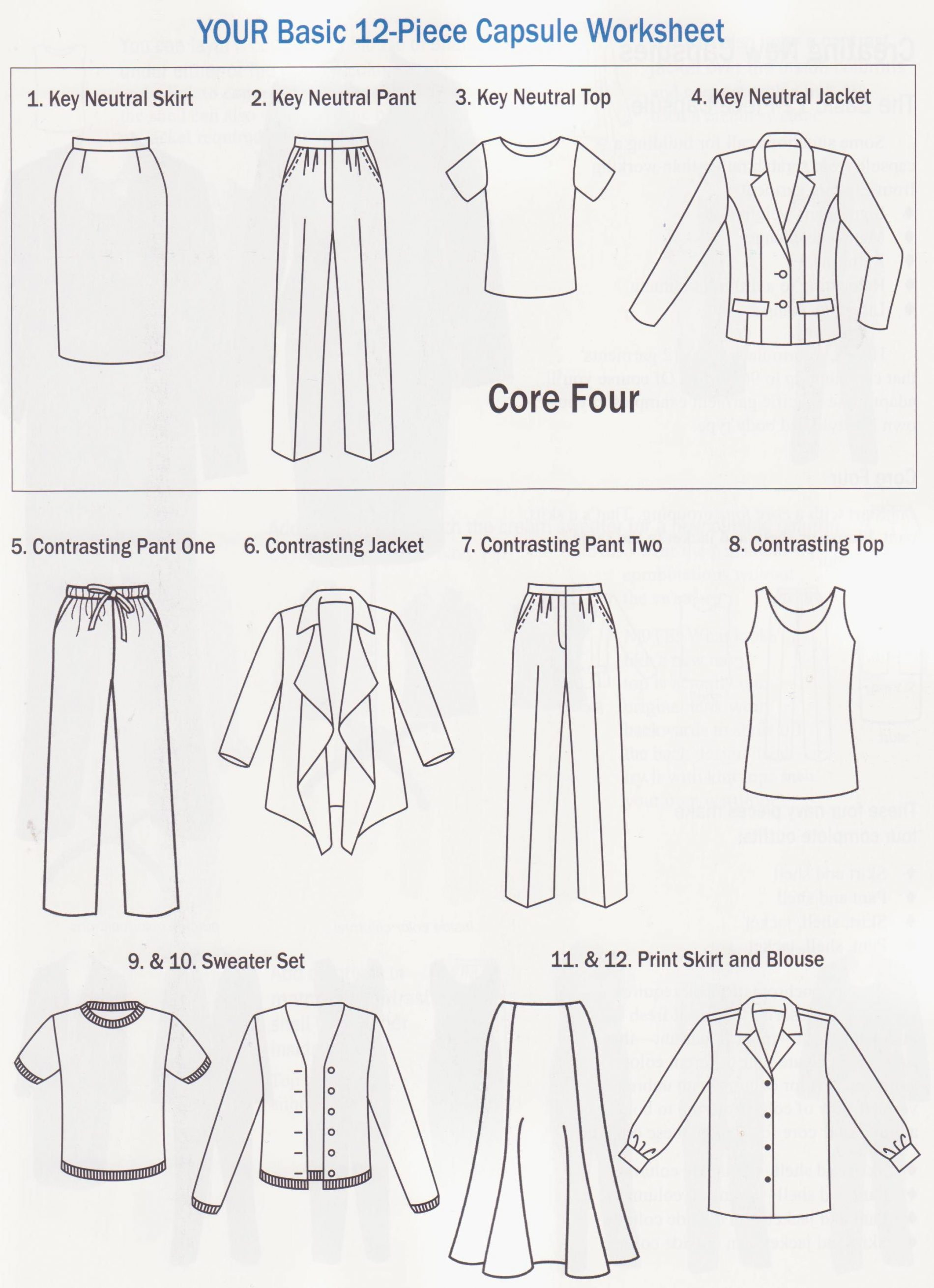 12 Piece Wardrobe Plan