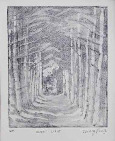 Quiet Light, zinc plate etching, acquatint