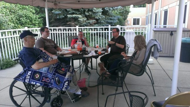hospice pizza party