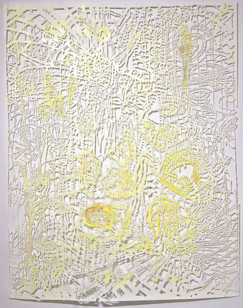 02b_w_Chris_Natrop--Yellow_Tempest_Twist,_2015_90in_x_72in_Watercolor,_Metal_Powder,_Glitter,_Paper