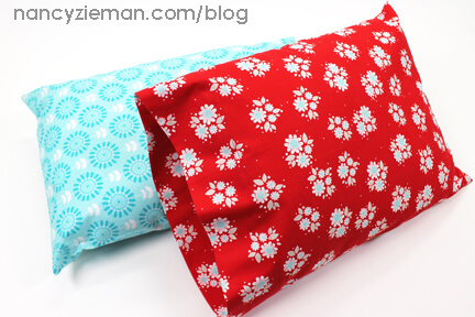 sew and donate a travel pillowcase