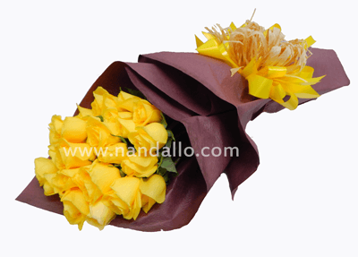 Ramo de rosas amarillas