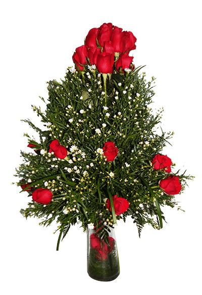 Florero de rosas