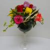 Arreglo en copa chavela con rosas