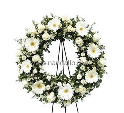 Arreglo floral para funerales blanco