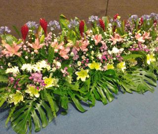 Jardinera floral para evento