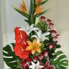 Arreglo floral en espiral