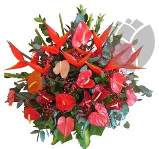 Arreglo floral para podium