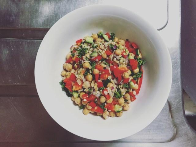 Mediterranean Salad Completed Dish