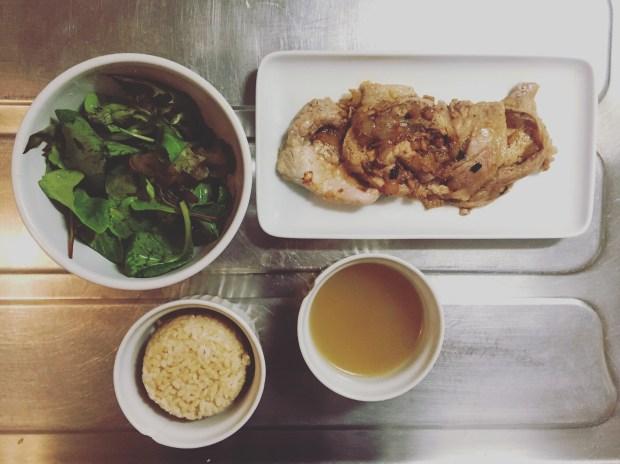 grilled ginger pork plated
