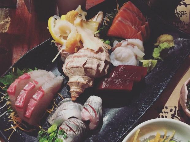 Sushi platter at Shirube in Shibuya