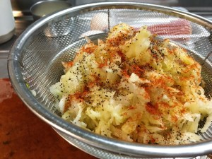 hash brown and spice mixture