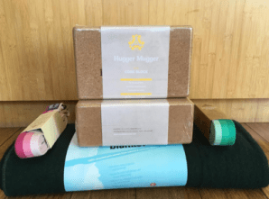 Props: Manduka Wool Blanket ($32), Prana Yoga Straps ($15), Hugger Mugger Cork Blocks ($19.95). They are perfect set for moms who want to develop a home practice.