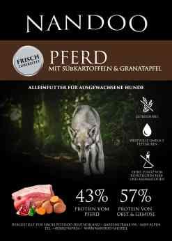 GHH Pferd mit Süßkartoffel und Granatapfel