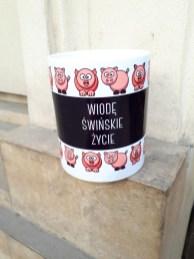 Smieszny kubek wiodę świńskie życie