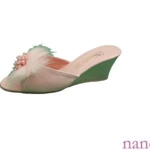 dolgu topuklu tüylü terlik en-gros mireasa papuci, pantoufles de mariée price, wholesale wedge slipper