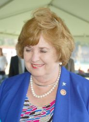 State Representative Margaret Rogers following the Friday morning I-22 event.