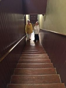 Note: Travellers are only at the half-way mark of The Stairs Photo: Robyn Loonan Gibson
