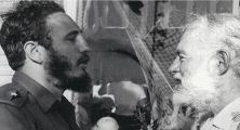 Fidel Castro and Earnest Hemingway in Havana May 15, 1960, 14 months before Hemingway's death.""