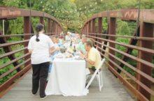 Atop the Little Tallahatchie Bridge, guest enjoyed an interesting meal