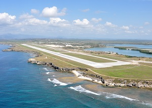 An aerial view of Leeward Airfield at Naval Station Guantanamo Bay, Cuba. 2010