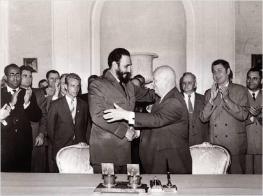 Fidel Castro and Nikita Kruschev